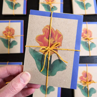 Image of set of note cards featuring tulips